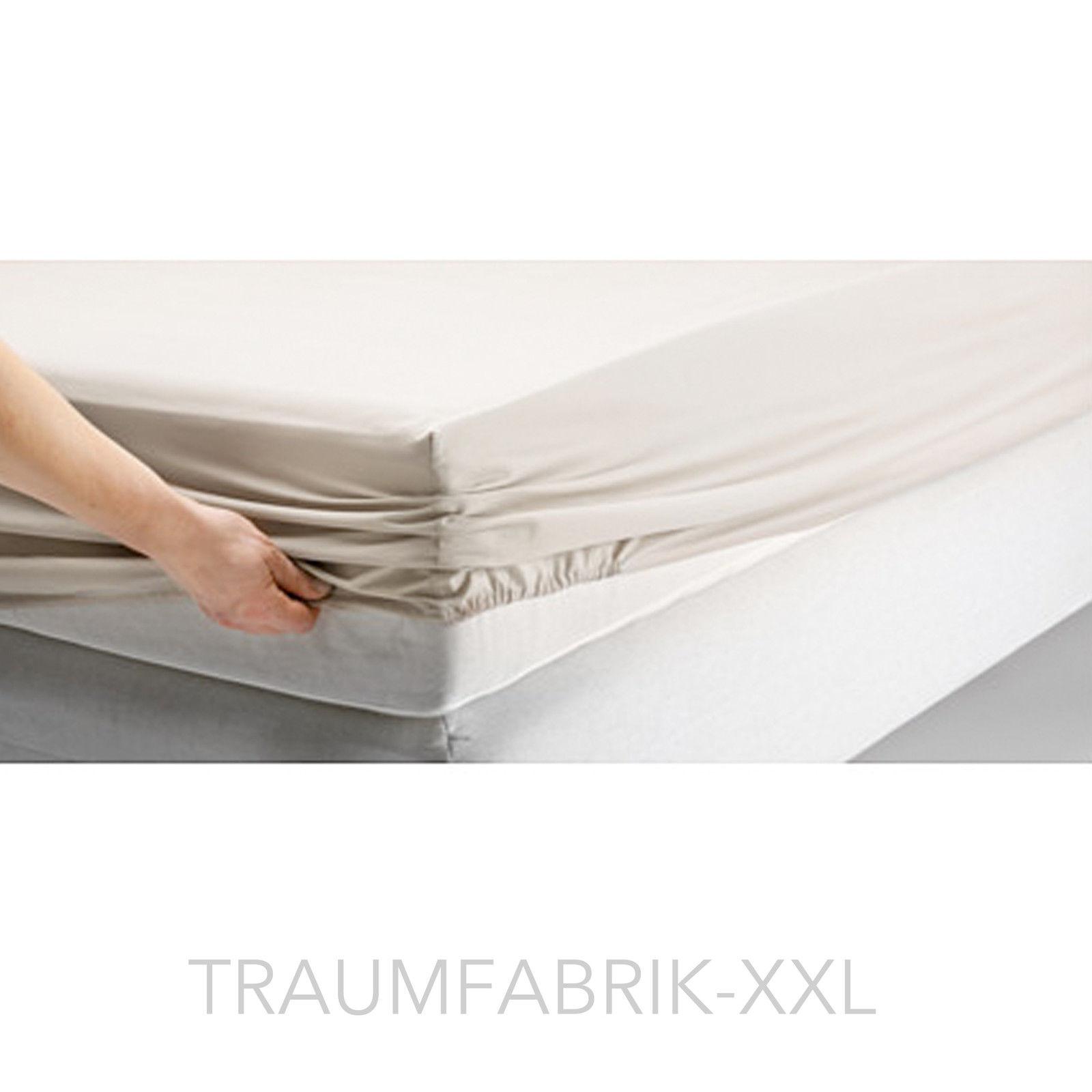 IKEA Bettlaken Spannbettlaken Beige 180x200cm Schlafzimmer 100 Baumwolle