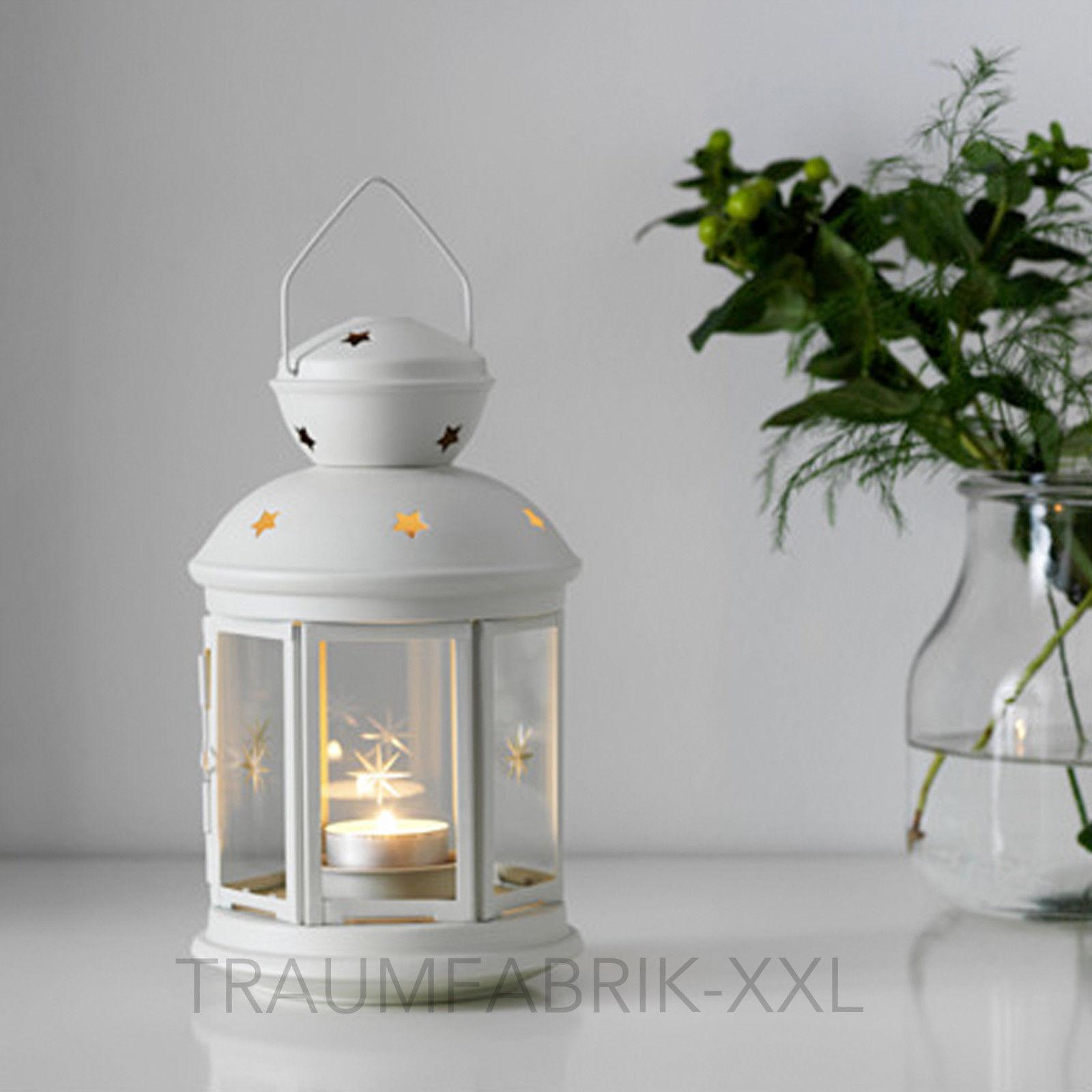 ikea rotera laterne f r teelicht windlicht teelichter kerzenhalter 21cm wei neu traumfabrik xxl. Black Bedroom Furniture Sets. Home Design Ideas