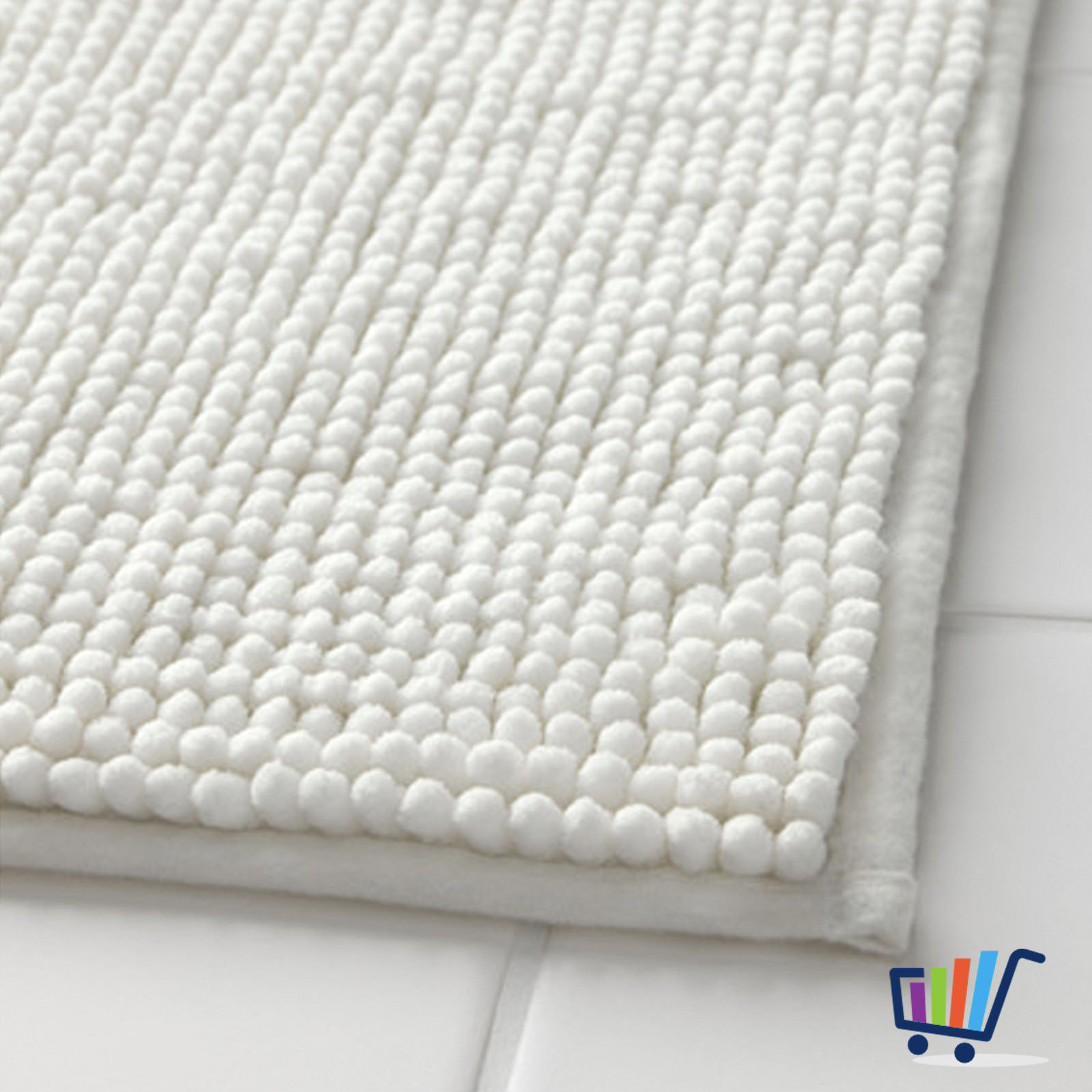 ikea toftbo duschmatte 60 90 cm wei matte vorleger. Black Bedroom Furniture Sets. Home Design Ideas