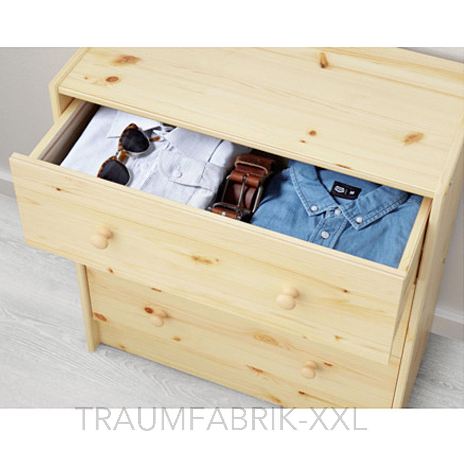 Landhaus Kommode Mit 3 Schubladen Kiefer Massivholz Mobel Kleider