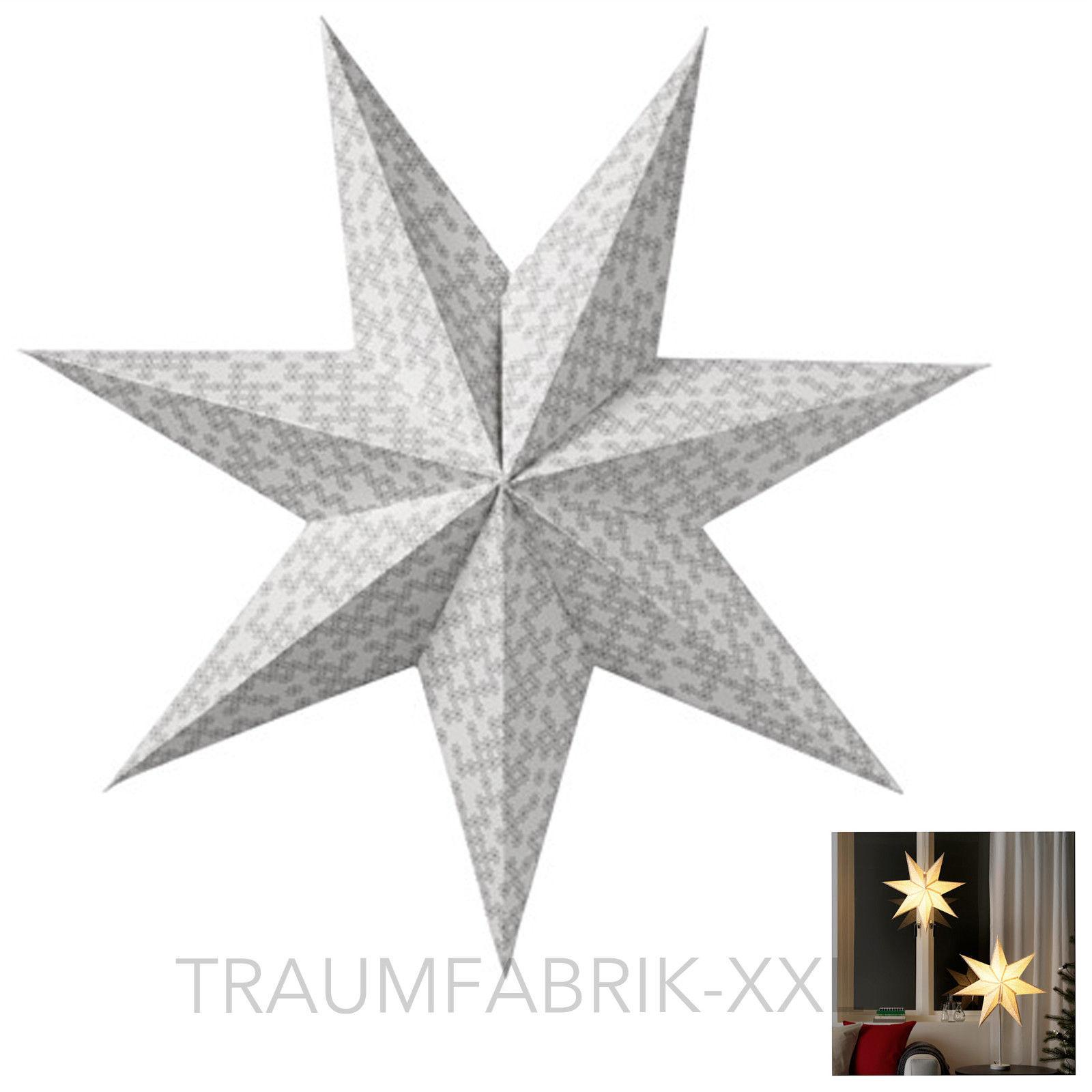 ikea strala leuchtenschirm hänge stern 60cm grau schneeflocke weiß