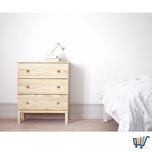 IKEA TARVA Kommode mit 3 Schubladen Kiefer Massivholz Schrank ...