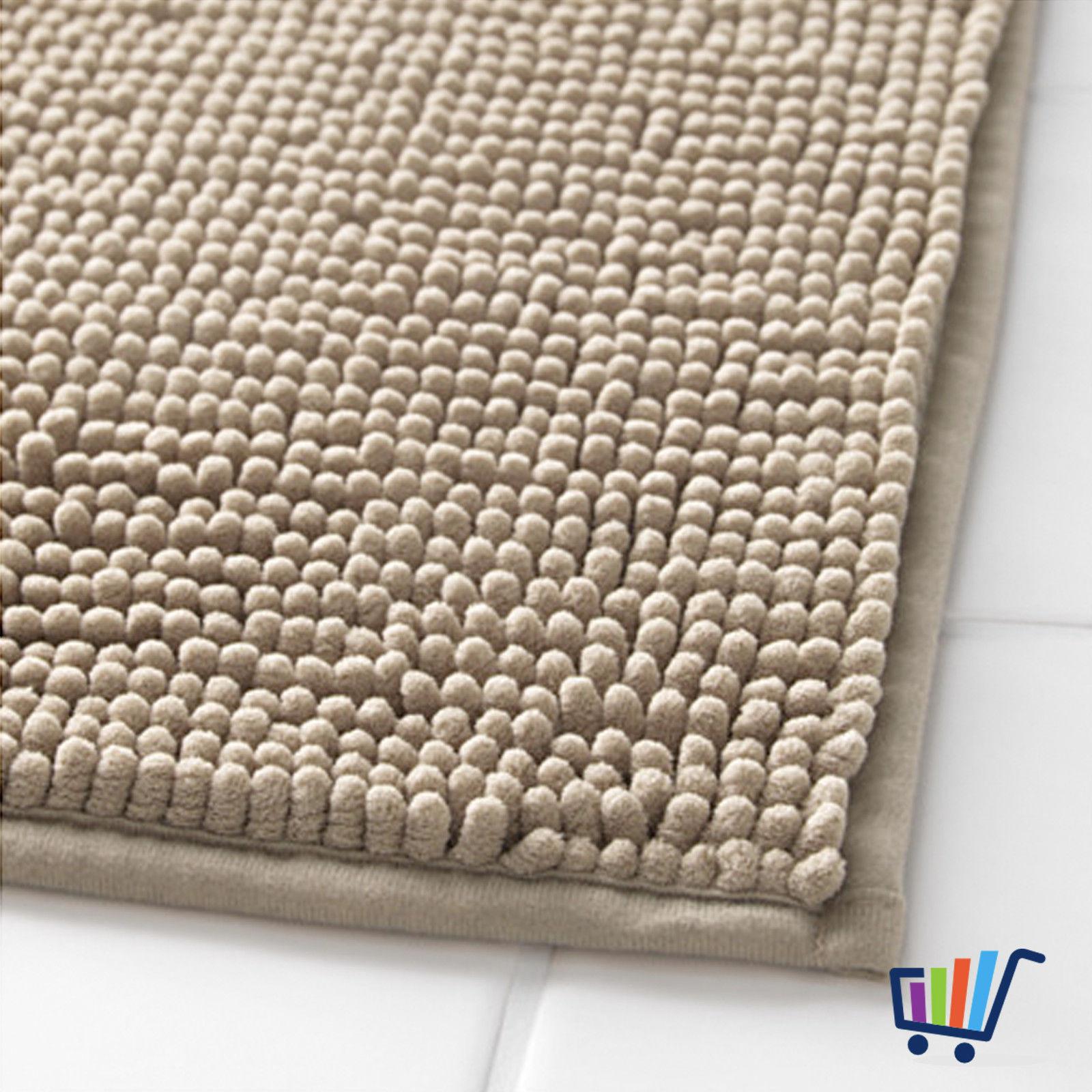 ikea toftbo duschmatte 60 90 cm beige matte vorleger badezimmermatte weich neu traumfabrik xxl. Black Bedroom Furniture Sets. Home Design Ideas