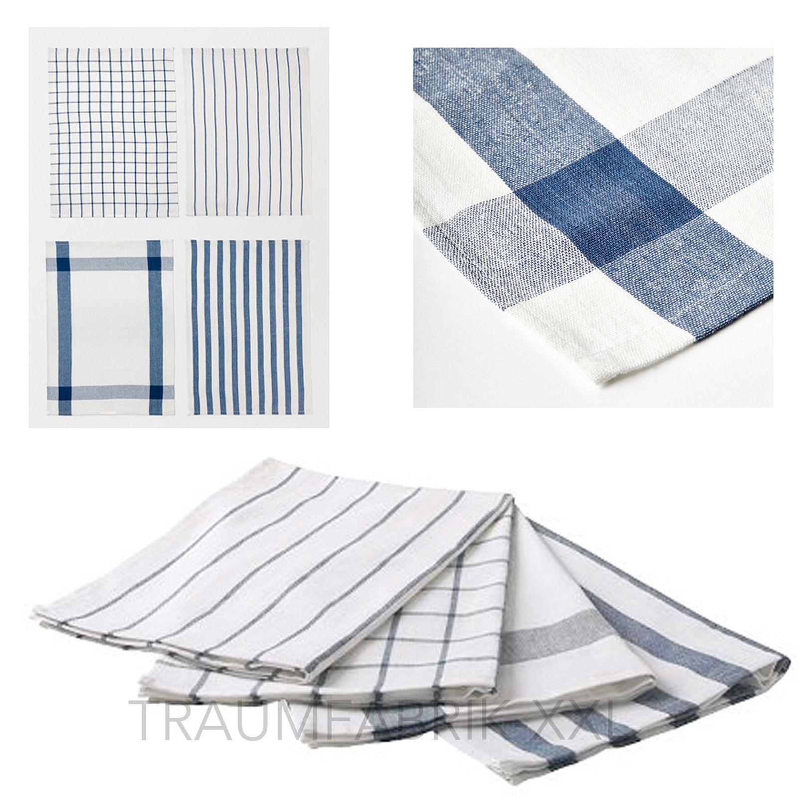 ikea elly 4 x geschirrtuch 100 baumwolle geschirrt cher 4er set handtuch blau traumfabrik xxl. Black Bedroom Furniture Sets. Home Design Ideas