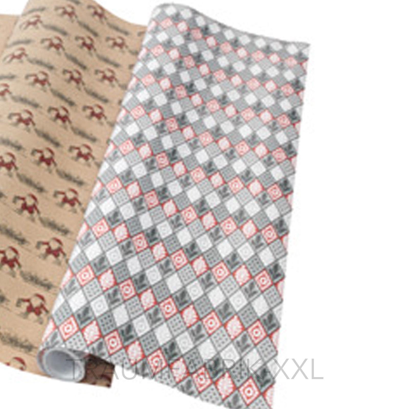 Ikea VINTER Geschenkpapier Rolle Geschenkpapierrolle grau Winter ...