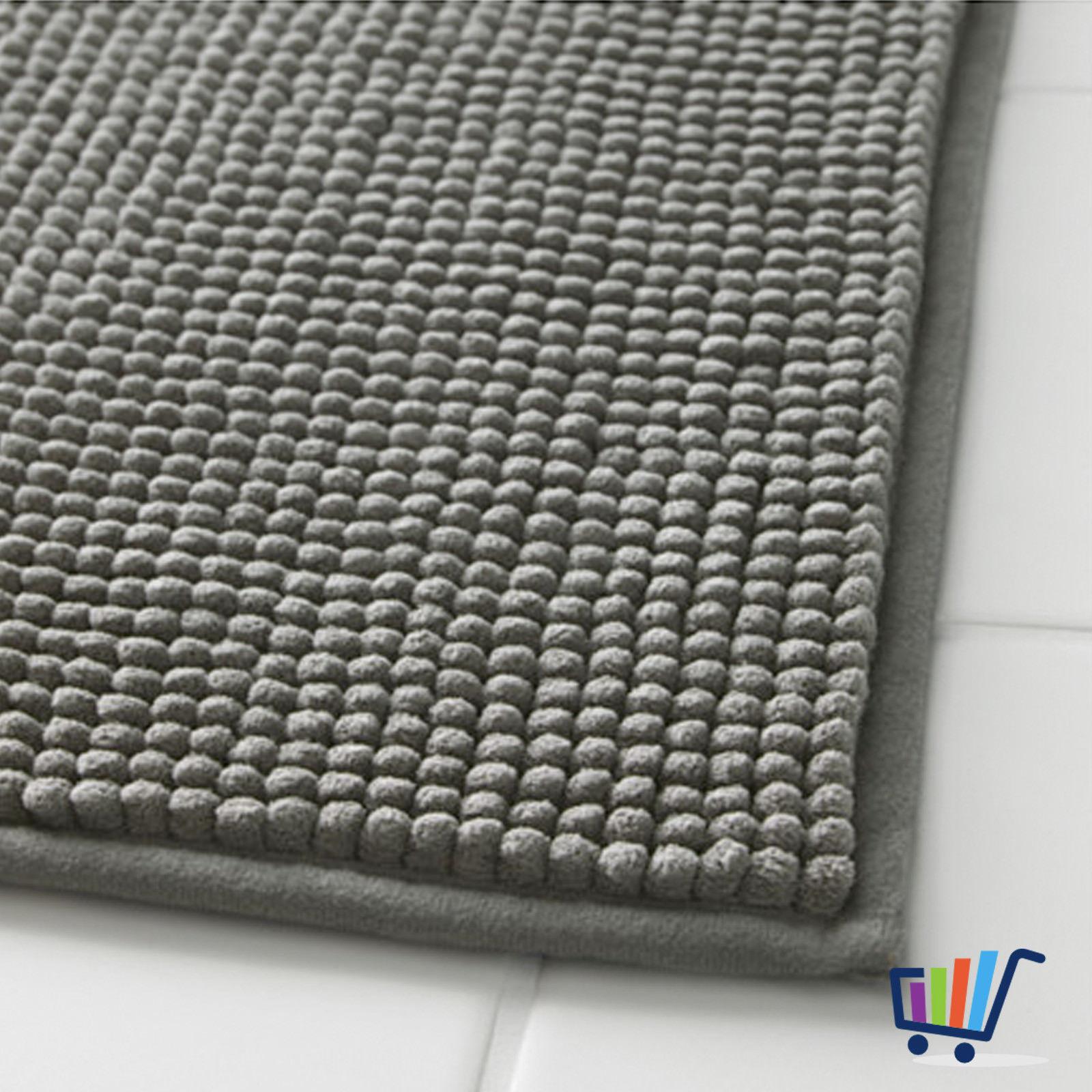 ikea toftbo duschmatte 60 90 cm grau matte vorleger badezimmermatte weich neu traumfabrik xxl. Black Bedroom Furniture Sets. Home Design Ideas