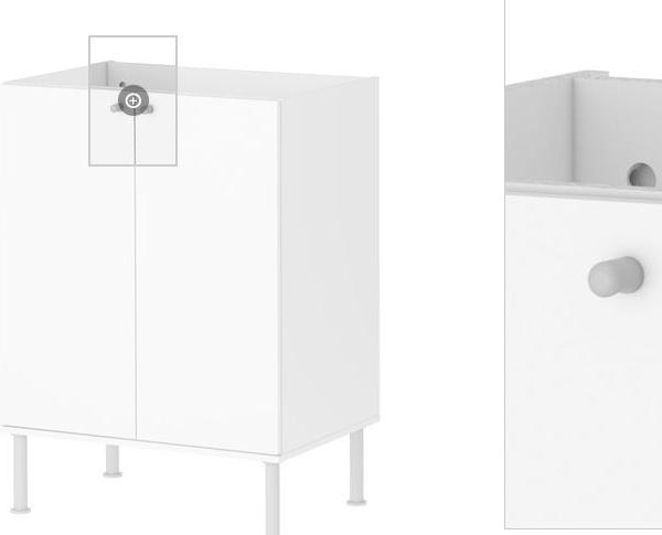IKEA Waschbeckenkommode Badschrank Schrank Waschbeckenschrank weiss ...