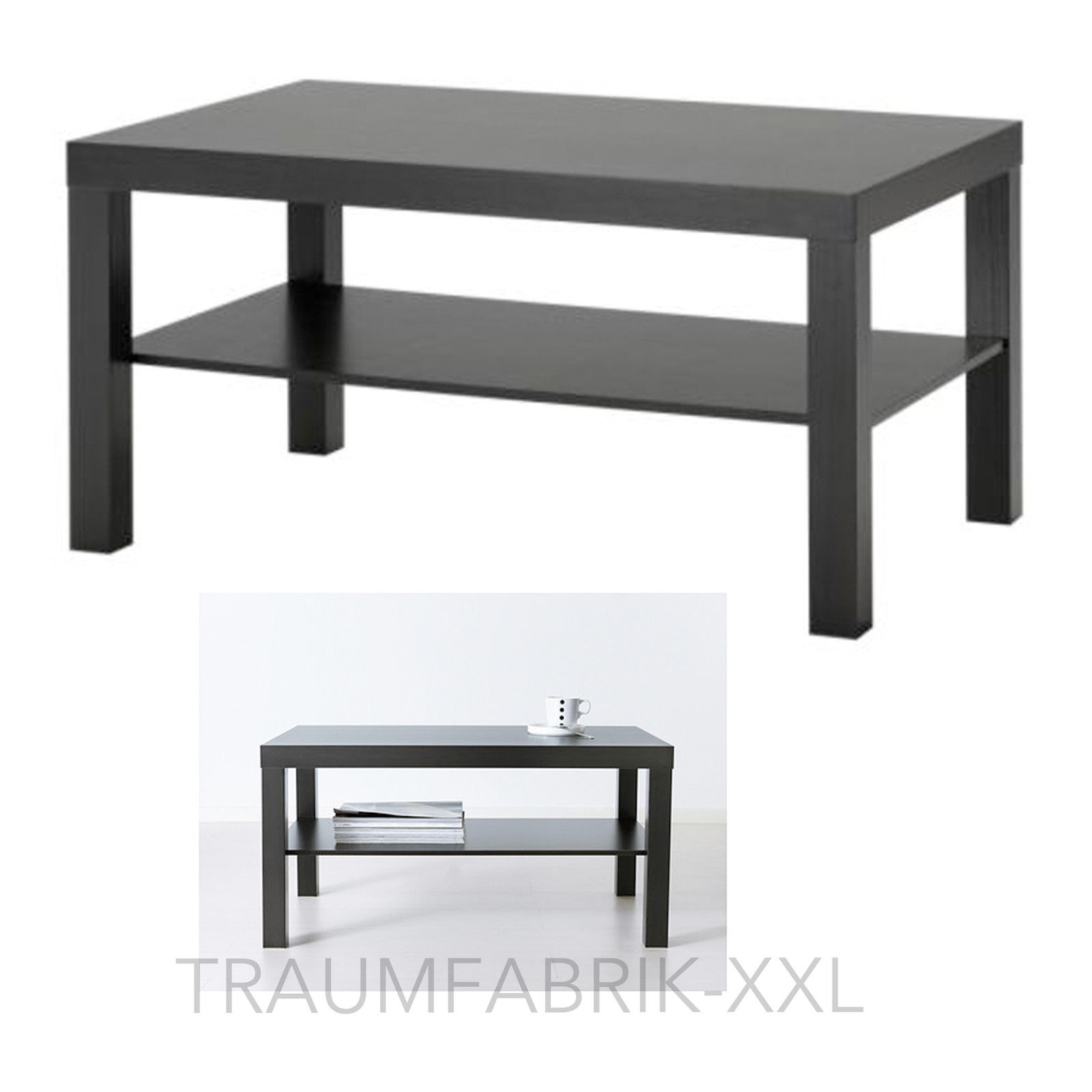 ikea lack couchtisch 90 55 cm wohnzimmertisch schwarz ablagetisch lounge tisch traumfabrik xxl. Black Bedroom Furniture Sets. Home Design Ideas