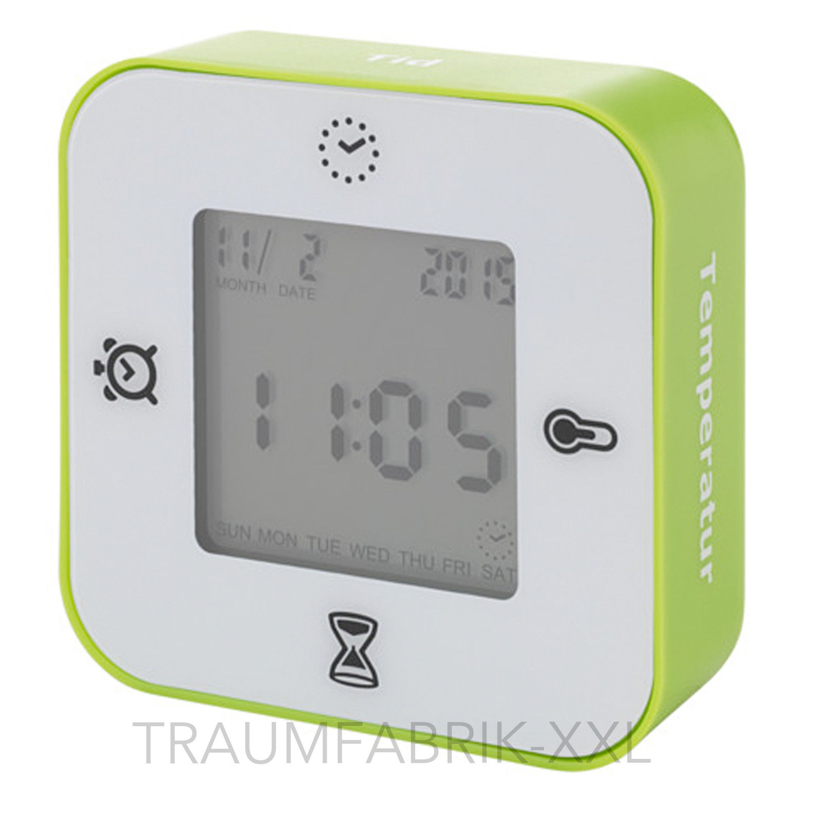 ikea l ttorp uhr wecker mit thermometer timer einfach drehen drehsensor neu traumfabrik xxl. Black Bedroom Furniture Sets. Home Design Ideas