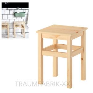 ikea oddvar hocker holzhocker schemel holzschemel 33x33x45cm massive kiefer neu traumfabrik xxl. Black Bedroom Furniture Sets. Home Design Ideas