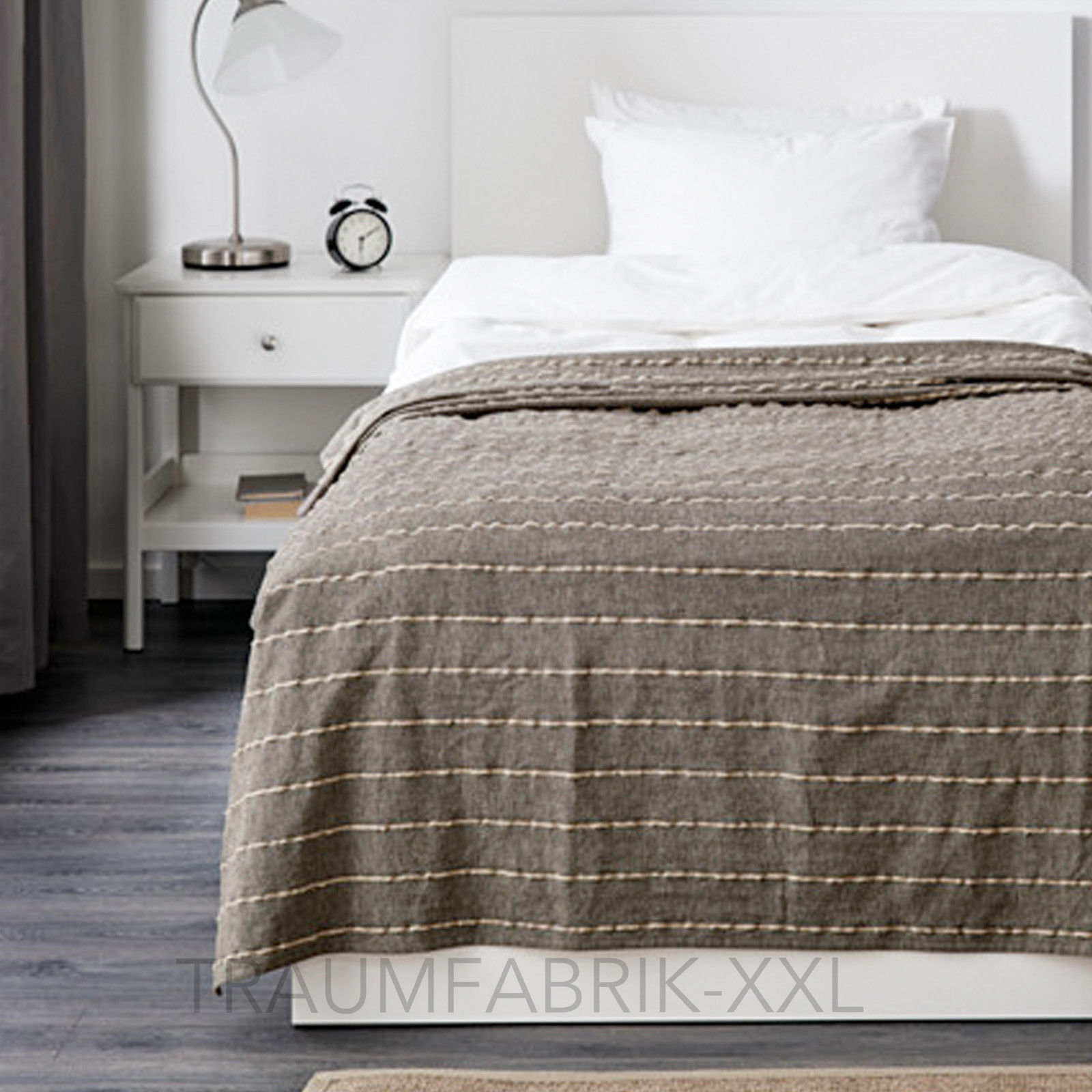 ikea plaid tagesdecke berwurf tall rt natur 150 x 250 cm sofadecke bett berwurf traumfabrik xxl. Black Bedroom Furniture Sets. Home Design Ideas