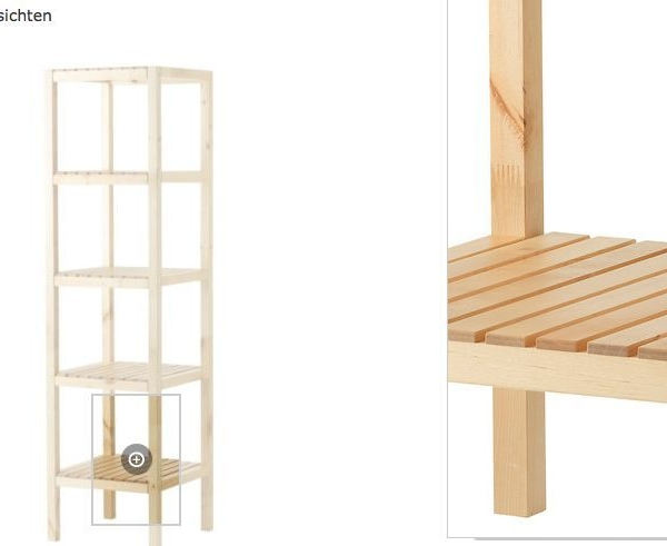 IKEA Regal Birke Badregal Standregal Holzregal Badmöbel Lagerregal 140cm NEU