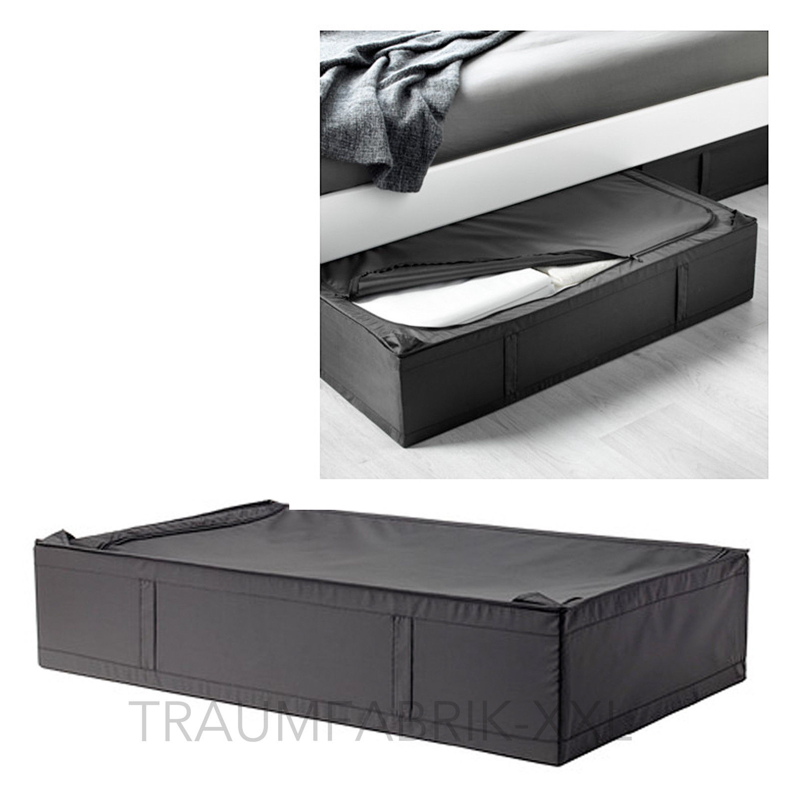 ikea skubb tasche organizer aufbewahrungsbox unterbett aufbewahrung schwarz neu traumfabrik xxl. Black Bedroom Furniture Sets. Home Design Ideas