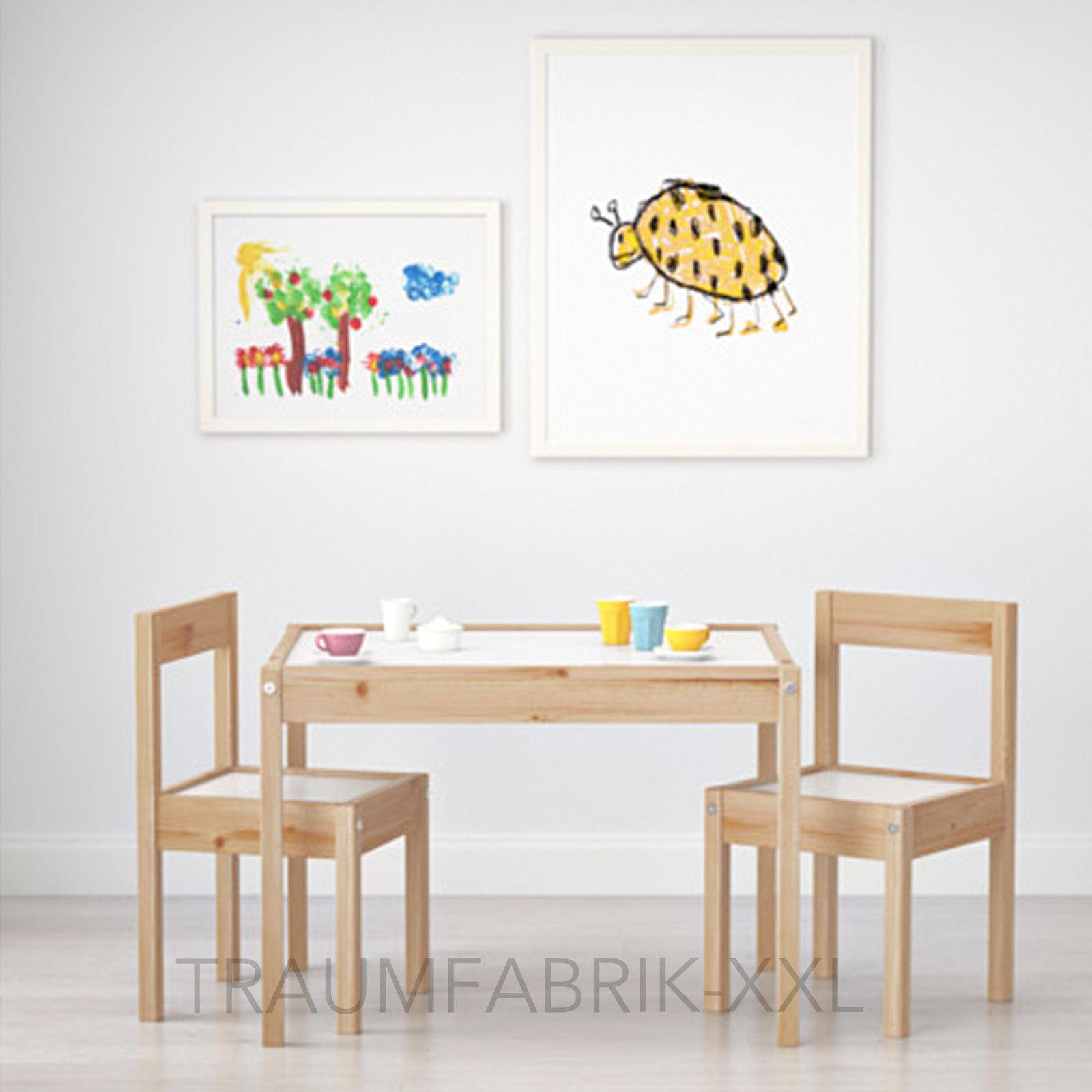 Ikea Lätt Kindertisch + 2 Stühlen Tisch Kinder Kindermöbel ...