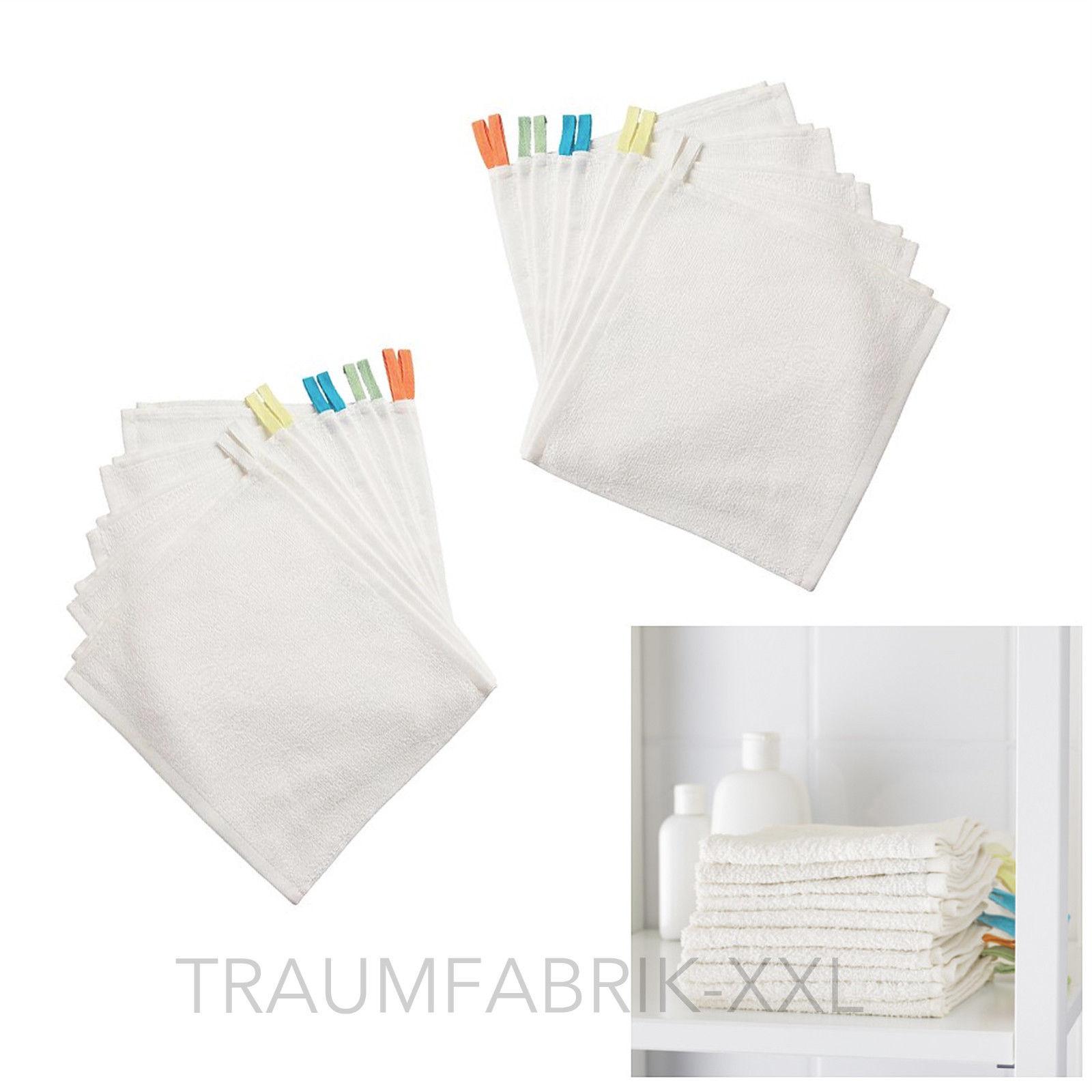 20x Krama Ikea Waschlappen Bad&Dusche 100% Baumwolle weiß Baby weich ...