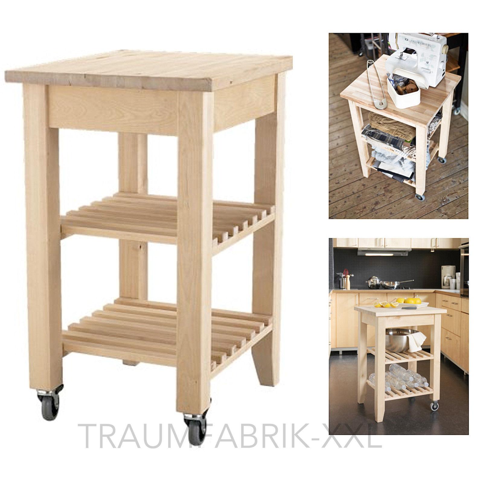 IKEA Holz Birke Abräumwagen Servierwagen Regalwaagen Küchenwagen ...