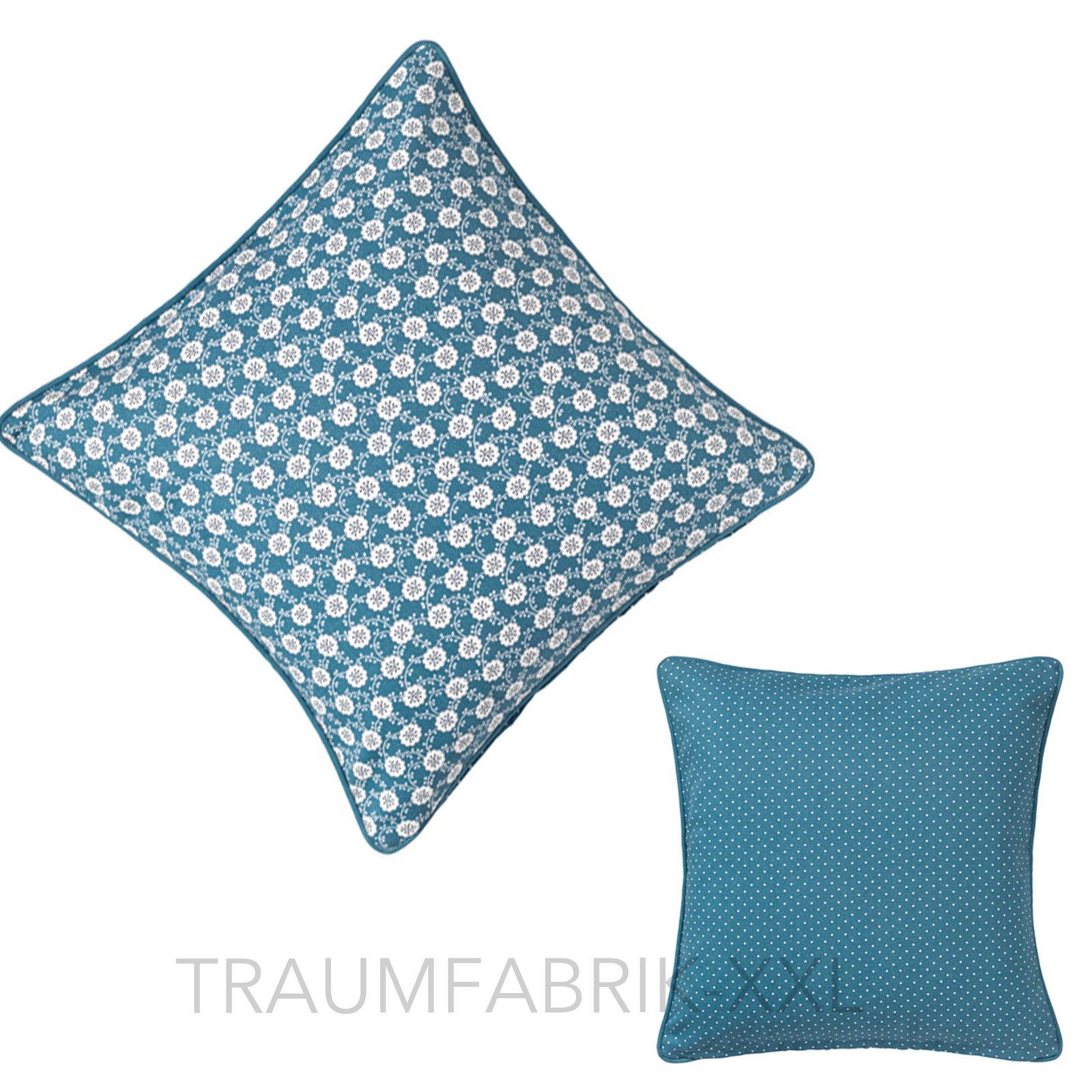 ikea l vkoja kissenh lle blau dekokissen kissenbezug 50 50 cm kissen bezug neu traumfabrik xxl. Black Bedroom Furniture Sets. Home Design Ideas