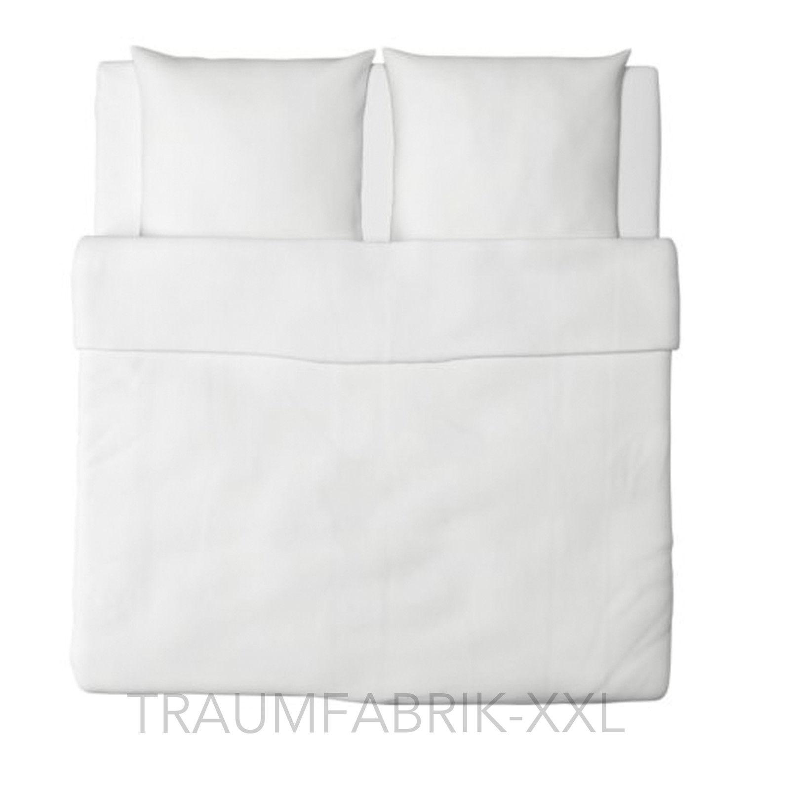 ikea bettw sche bettw scheset 3tlg weiss bettw schegarnitur bergr e 240 220 cm traumfabrik xxl. Black Bedroom Furniture Sets. Home Design Ideas