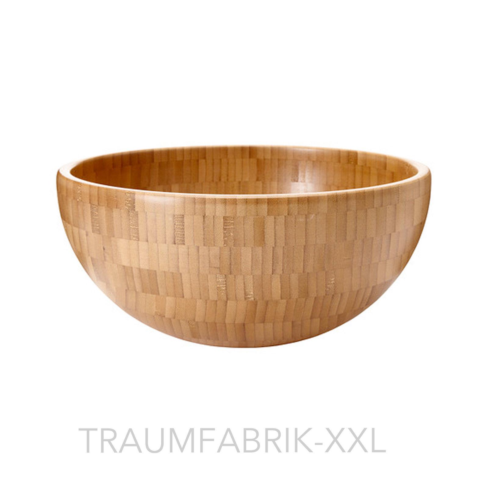 Salatschüssel Holz ikea holzschüssel schüssel aus bambus holz 28cm servierschüssel