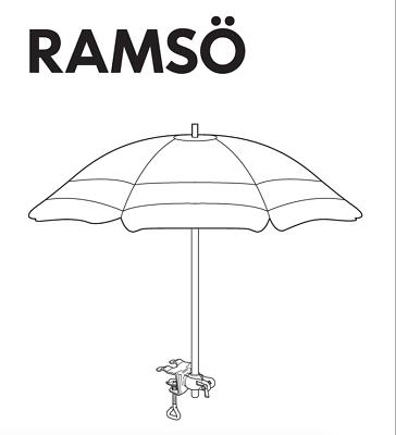 Ikea Schirm ikea ramsö sonnenschirm balkonschirm mit halterung schirmhalter