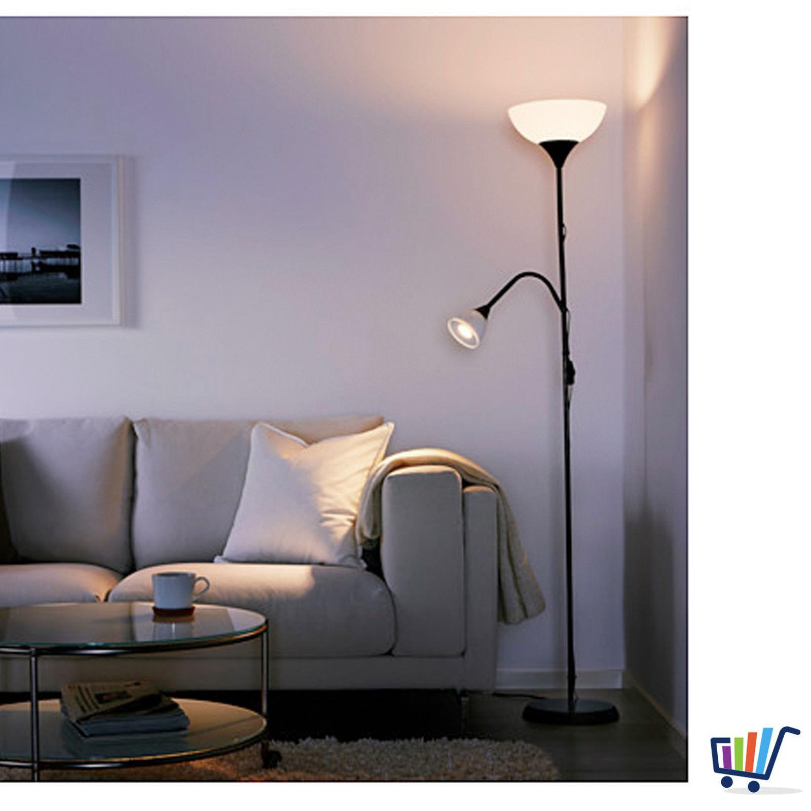 ikea strahler deckenfluter deckenstrahler stehleuchte schwarz stehlampe neu ovp traumfabrik xxl. Black Bedroom Furniture Sets. Home Design Ideas
