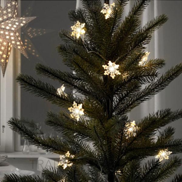 ikea strala schneeflocke f r led lichterkette 12 st ck dekoration leuchte deko traumfabrik xxl. Black Bedroom Furniture Sets. Home Design Ideas