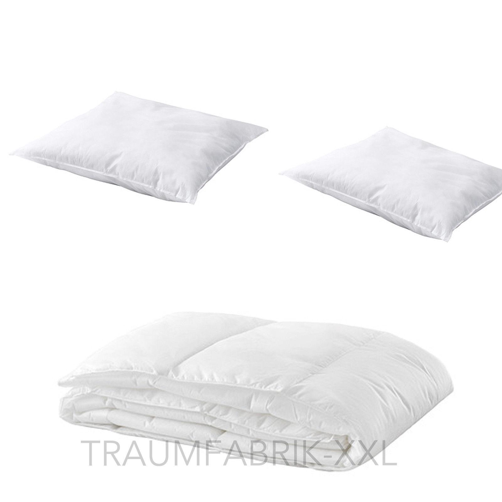 3 fach bettenset 1 bettdecke 140 200 cm 2 kopfkissen 80 80 cm ikea bettzeug traumfabrik xxl. Black Bedroom Furniture Sets. Home Design Ideas