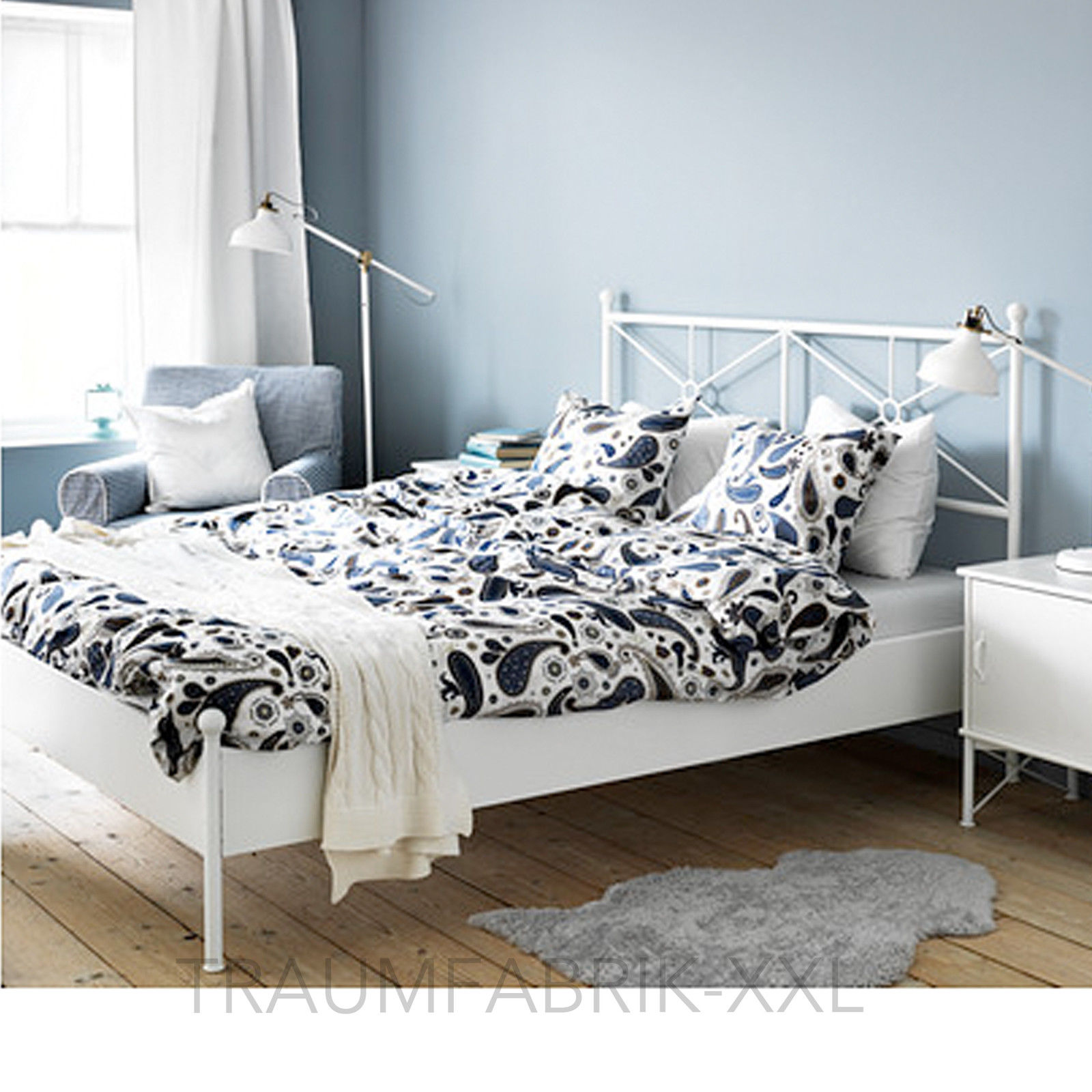 ikea bettw sche bettw scheset 3tlg blau bettw schegarnitur. Black Bedroom Furniture Sets. Home Design Ideas