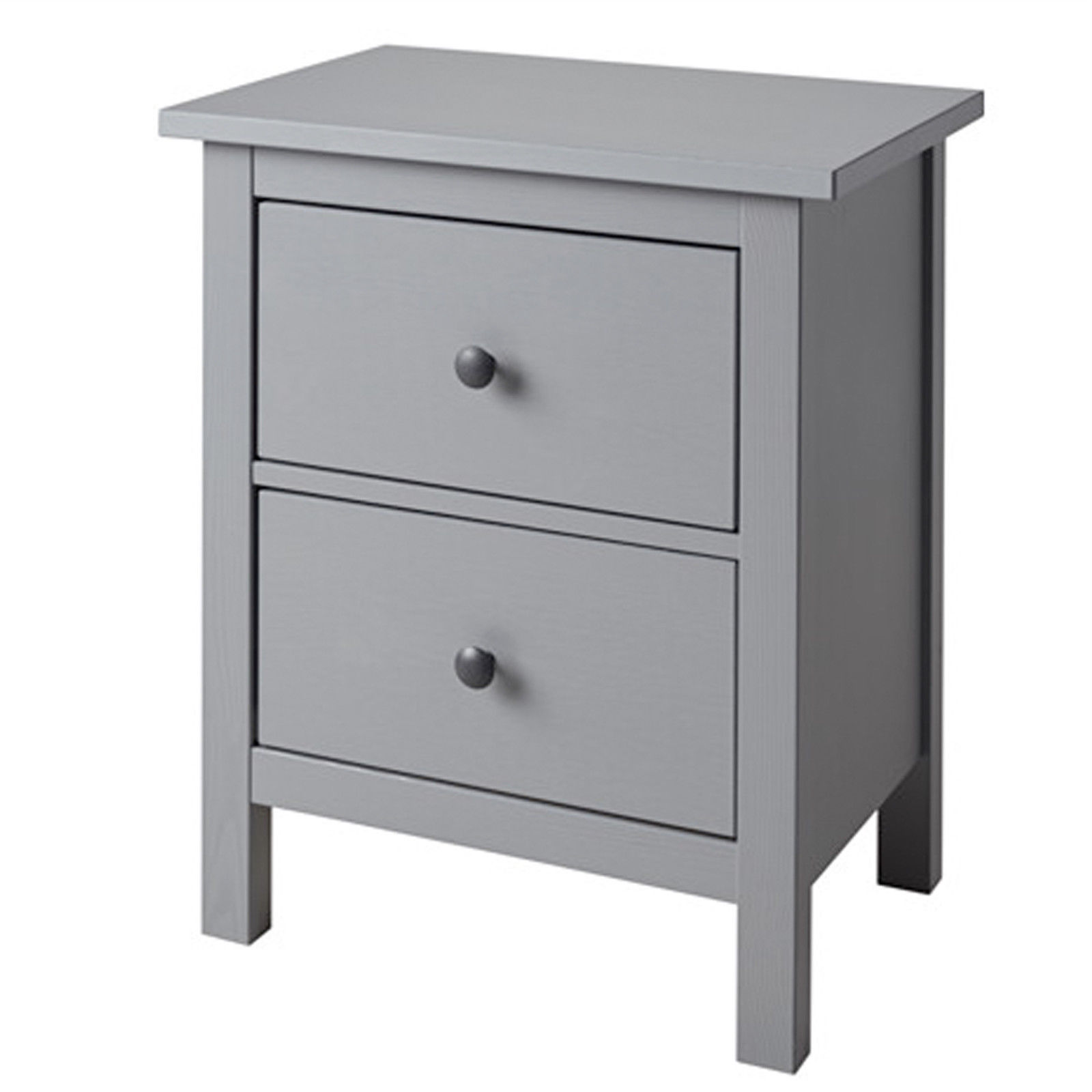 ikea hemnes kommode mit 2 schubladen grau nachtkonsole. Black Bedroom Furniture Sets. Home Design Ideas