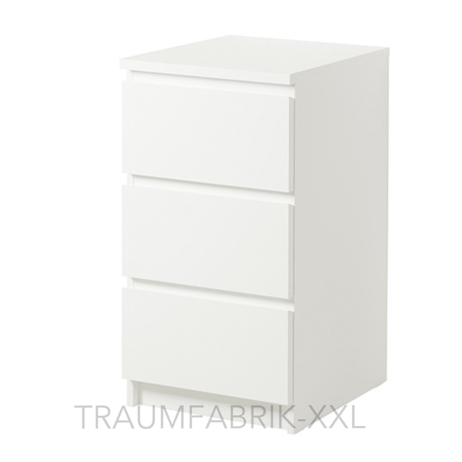ikea malm kommode mit 3 schubladen wei nachtkonsole nachttisch schrank neu ovp traumfabrik xxl. Black Bedroom Furniture Sets. Home Design Ideas