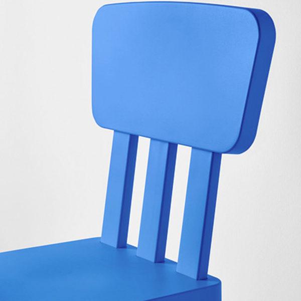 Ikea Kinderstühle ikea mammut kinderstuhl blau mit lehne sitz stuhl kindermöbel