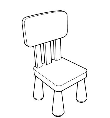 Ikea Kinderstuhl Mammut ikea mammut kinderstuhl blau mit lehne sitz stuhl kindermöbel
