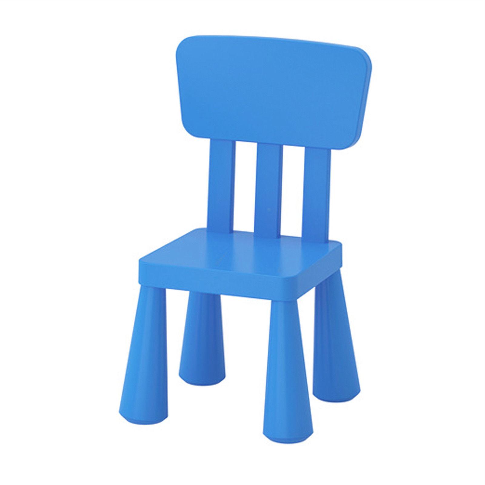 Ikea mammut kinderstuhl blau mit lehne sitz stuhl - Ikea mammut stuhl ...
