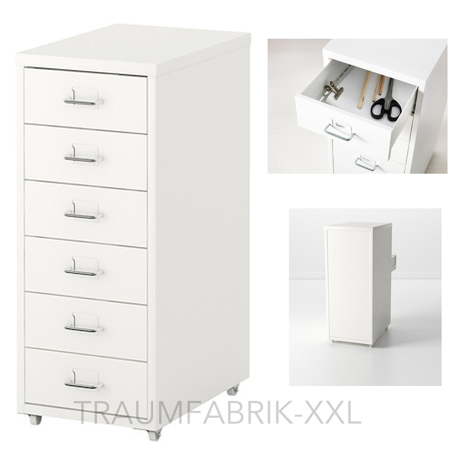 ikea schubladenelement rollcontainer b roschrank schrank schubladenschrank wei traumfabrik xxl. Black Bedroom Furniture Sets. Home Design Ideas