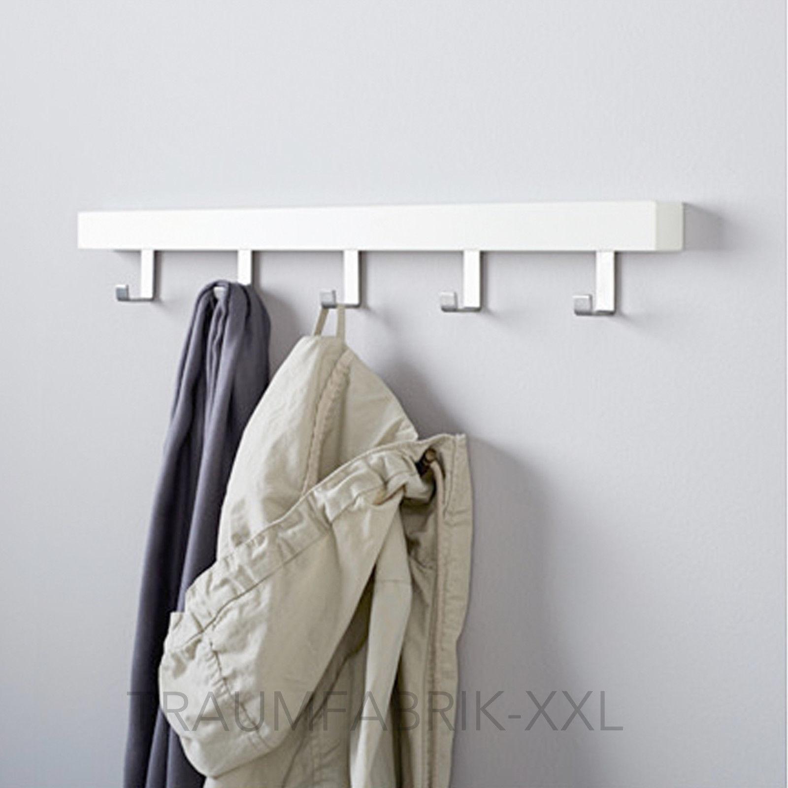 IKEA TJUSIG Aufhänger für Tür Haken Türgarderobe weiß Kleiderhaken ...
