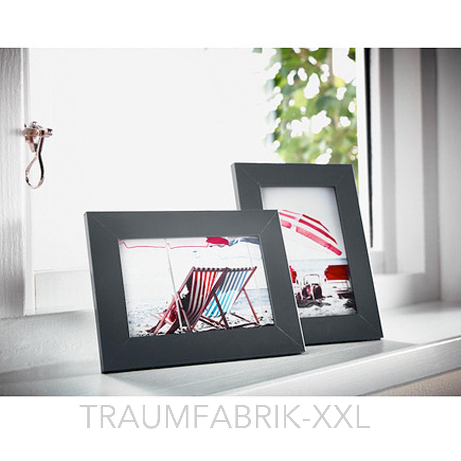 2 x Bilderrahmen 10×15 cm schwarz Holzbilderrahmen Holzrahmen Rahmen ...