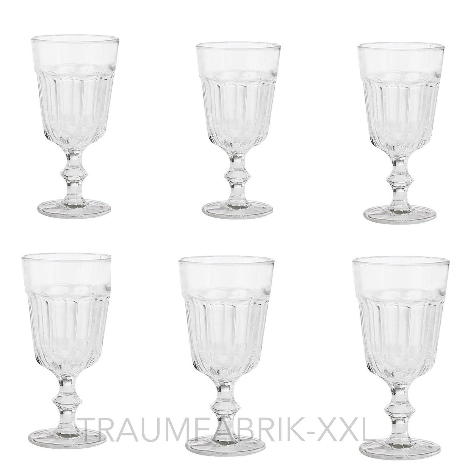 6 x weinglas weingl ser glas wasserglas dessertglas. Black Bedroom Furniture Sets. Home Design Ideas