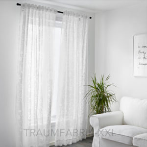 Ikea borghild 2x gardinenstore paar wei je 145x300cm for Xxl gardinen