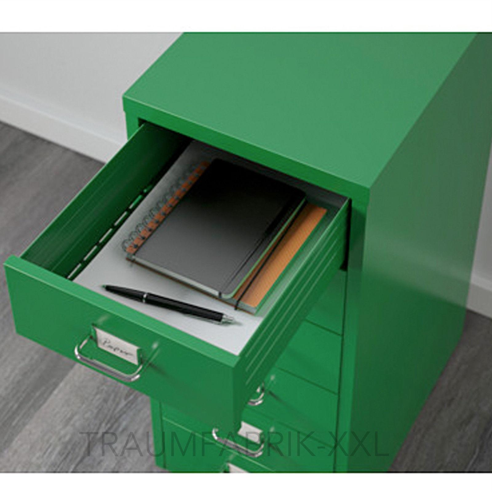 ikea helmer schubladenelement mit rollen büroschrank grün