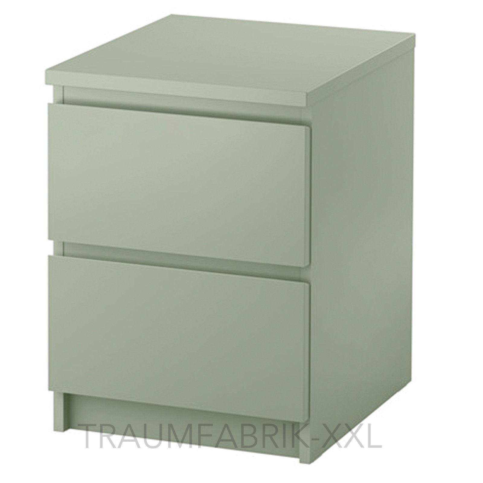 Nachttisch Ikea ikea malm kommode mit 2 schubladen grün nachtkonsole nachttisch