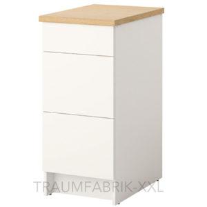 ikea unterschrank mit schubladen k chenunterschrank k chen schrank wei 40x61x90 traumfabrik xxl. Black Bedroom Furniture Sets. Home Design Ideas