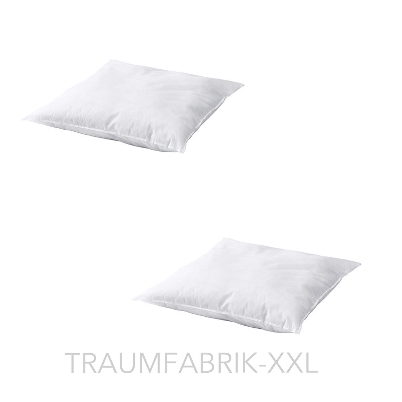 2 st ck kopfkissen kissen 80 80 cm 80 x 80 cm 80 80 cm inlett f llung neu ovp traumfabrik xxl. Black Bedroom Furniture Sets. Home Design Ideas