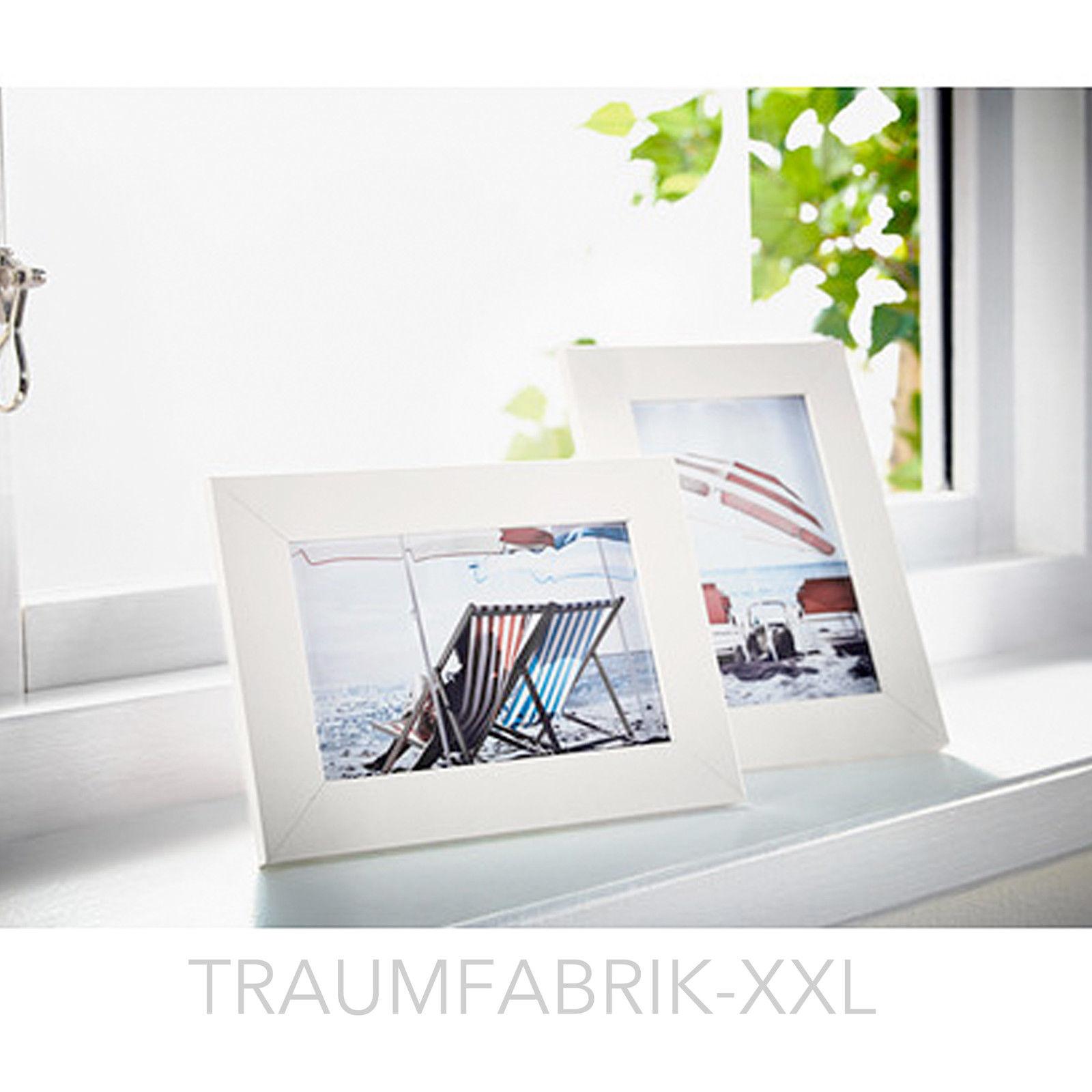 2 x Bilderrahmen 10×15 cm weiß Holzbilderrahmen Holzrahmen Rahmen ...