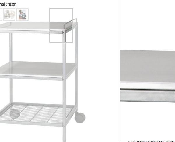 ikea edelstahl abr umwagen servierwagen regalwaagen transportwagen neu ovp traumfabrik xxl. Black Bedroom Furniture Sets. Home Design Ideas