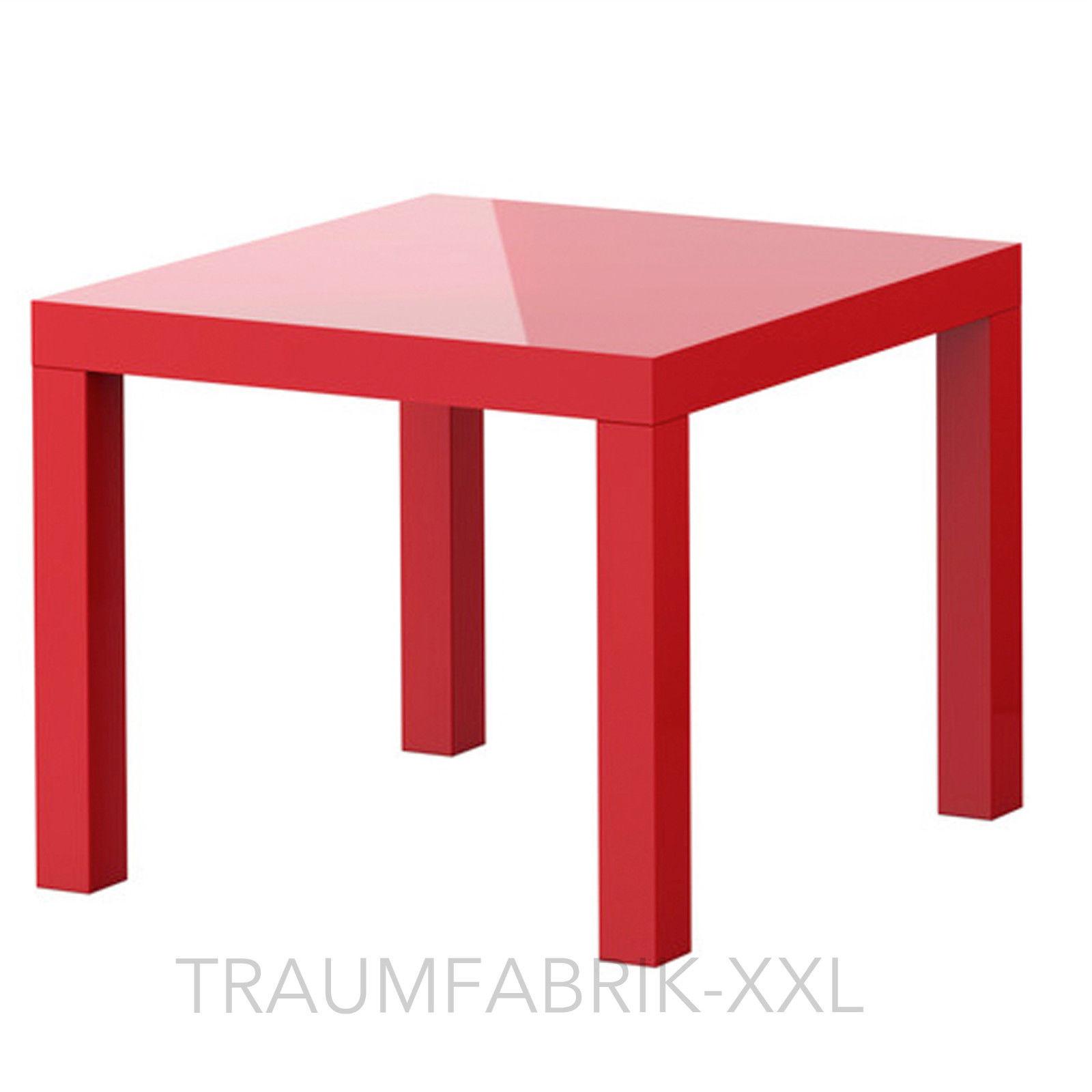 ikea lack beistelltisch hochglanz rot 55cm couchtisch sofatisch wohnzimmertisch rot. Black Bedroom Furniture Sets. Home Design Ideas