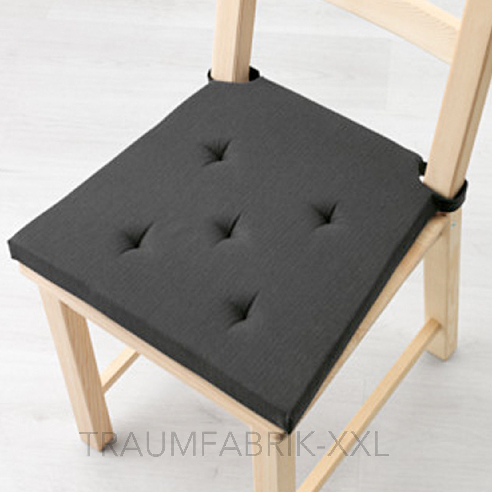 ikea sofakissen dekokissen stuhlkissen sitzkissen polsterkissen grau schwarz neu traumfabrik xxl. Black Bedroom Furniture Sets. Home Design Ideas