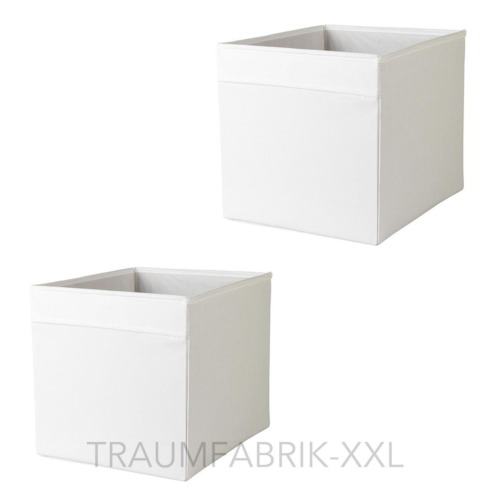 2 aufbewahrungsboxen wei aufbewahrung box regalbox f r expedit zeitungsfach neu traumfabrik xxl. Black Bedroom Furniture Sets. Home Design Ideas