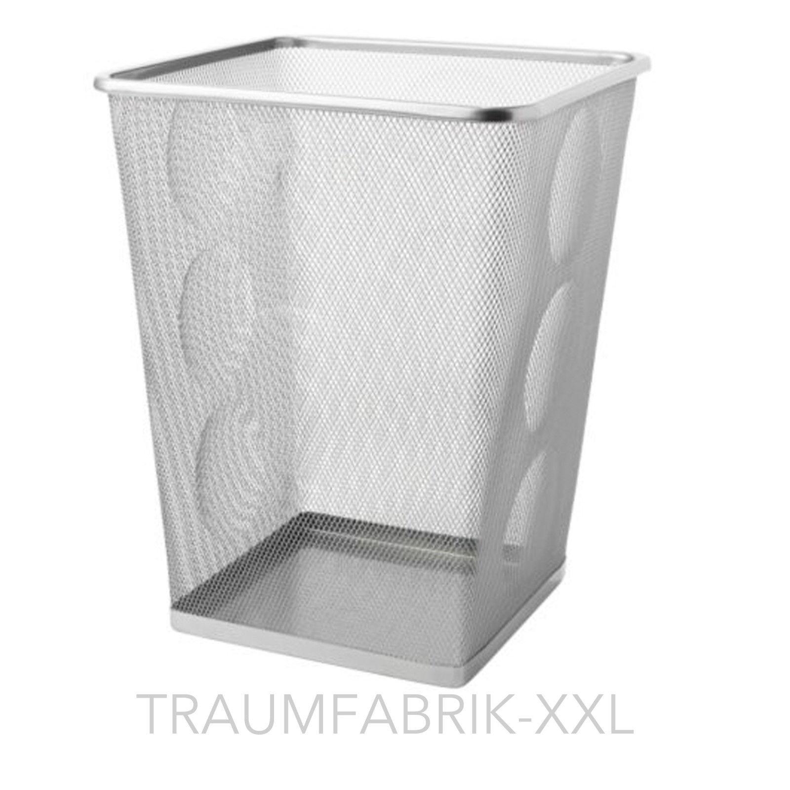 ikea b ro papierkorb silber schreibtischablage korb papier ablagefach metall neu traumfabrik xxl. Black Bedroom Furniture Sets. Home Design Ideas