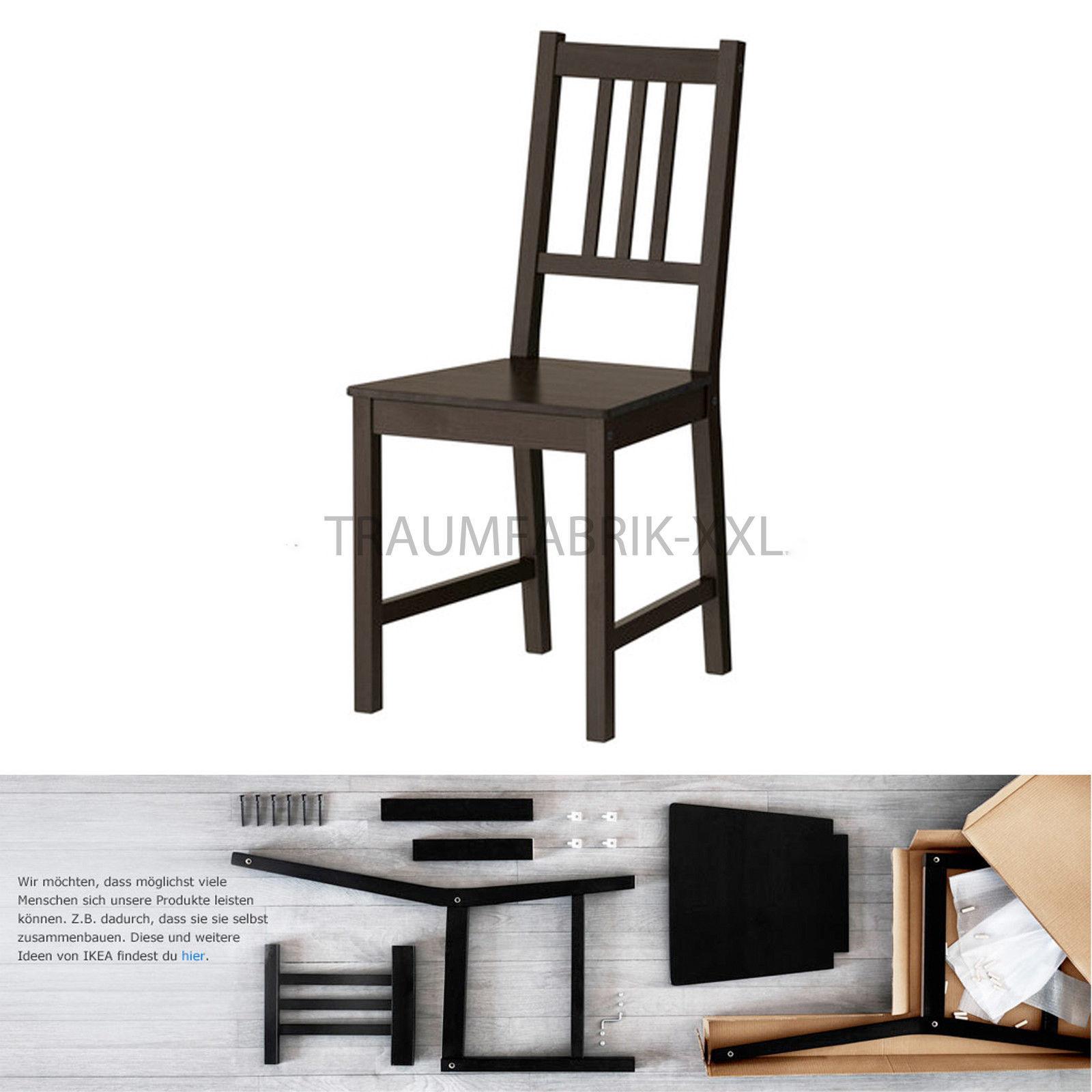 Kiefer Esszimmerstuhl Küchenstuhl Stuhl Braunschwarz Neu Ikea Stühle Holzstuhl 8Xn0wOPNk