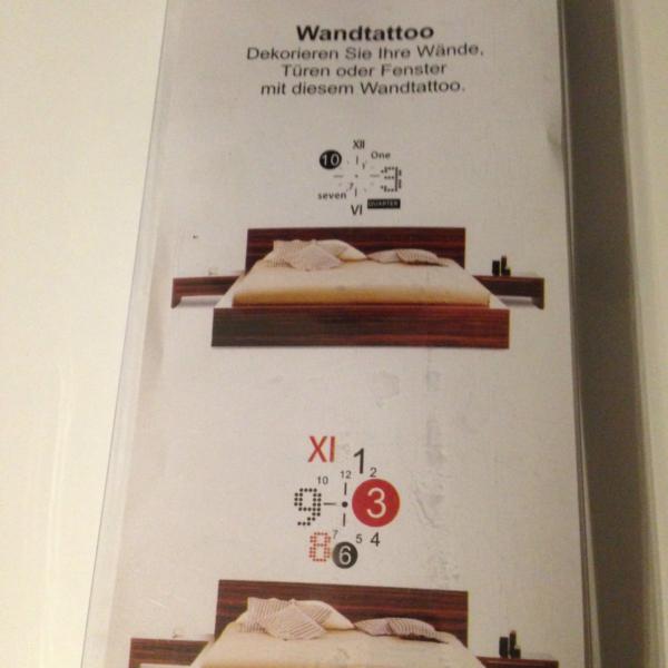 Wand Uhr Wohnzimmer Wanduhr 50x70cm Wandtattoo Deko ...